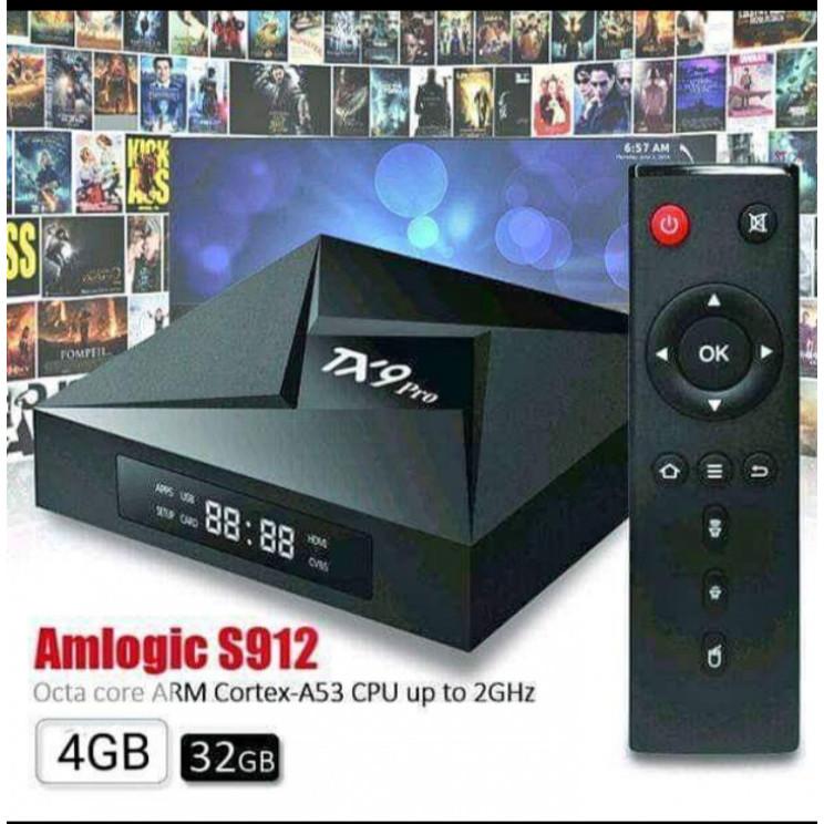 top tv box 4k tx9 pro 4g ram 32g rom android 9 aparelho transforme sua tv em smart tv