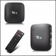 Top TX BOX 4k TX2 COM BLUETOOTH 2G RAM 16G ROM ANDROID 8.1 APARELHO TRANSFORME SUA TV EM SMART TV