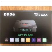 Tv Box Tx9 Max 64gb 4g Ram Android 9.0 Transforme Sua Tv em Smart tv