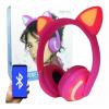 Fone De Ouvido Headphone Orelha De Gato Bluetooth P2 Led atacado e varejo