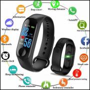 Relógio Inteligente Smartband M3 Monitor Cardíaco Pressão atacado e varejo