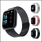 Smartwatch Relógio Inteligente Fitness Aço P80 + Puls. Extra atacado e varejo